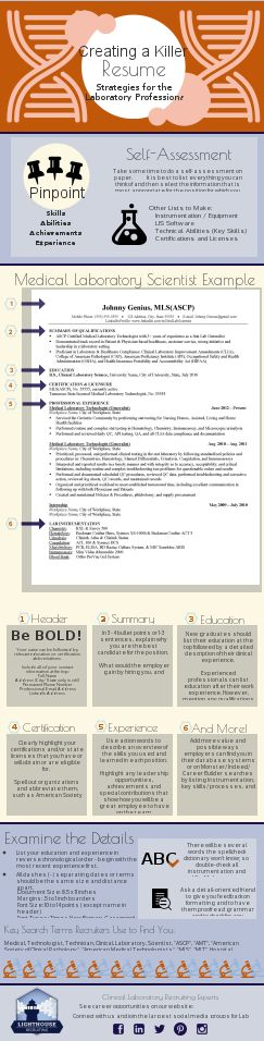 Creating a Resume for Laboratory Professionals \u2026 Pinteres\u2026