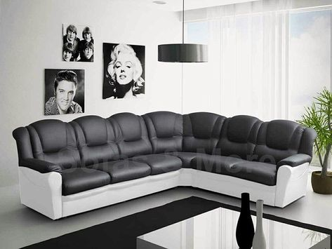 Black And White Leather Sofas For Sale In 2020 White Leather