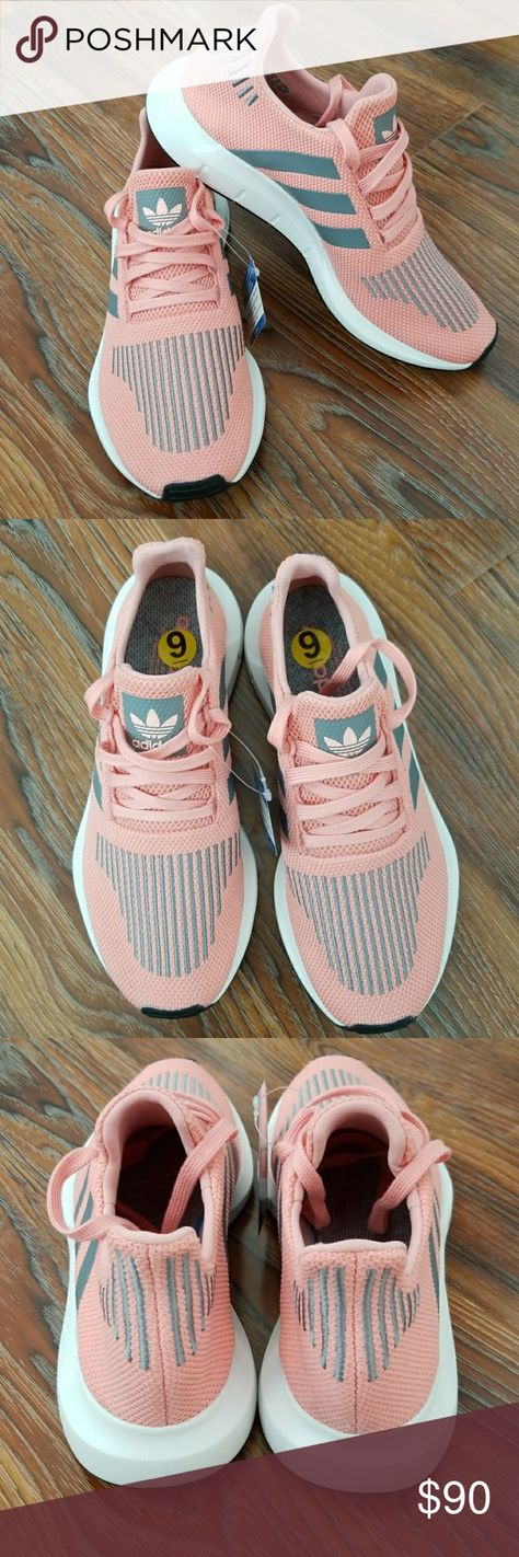 4fa57bbd38c44 Adidas originals 9 swift run w pink  grey cg4139 Knit upper with embroidery  on vampSock-like fitComfortable textile liningInjection-molded EVA midsole  for ...
