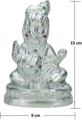 Thw White Metal Kanha Ji Krishna Laddu Gopal Bal Gopal Idol
