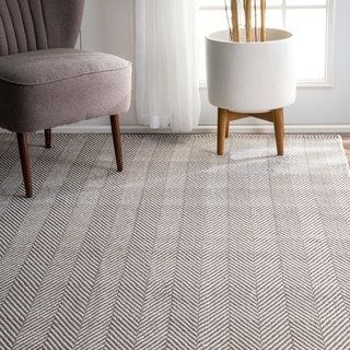 Nuloom Chevron Grey Cotton Handmade Flatweave Rug 10 0 X 14 0 10 X 14 Handmade Home Decor Herringbone Rug Area Rugs For Sale
