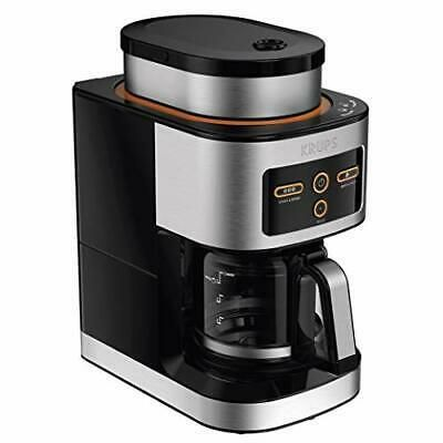 Krups Km550d50 Personal Cafe Grind Drip Coffee Maker 4 Cups 20 In 2020 Coffee Maker With Grinder Best Coffee Grinder Coffee Maker Reviews