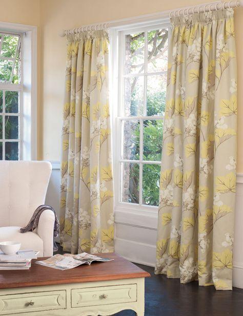 LAURA Ashley Oakshaw Natural  Curtains W223cmxL229cm Rare acorns leaves