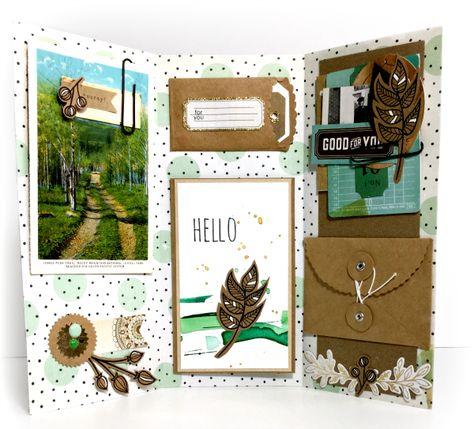 Pinch Your Chic: Triptych Bi-Fold Pen Pal Letter: Simon Says Stamp Love of Plants Challenge Pen Pal Letters, Letters Mail, Pocket Letters, Mail Art Envelopes, Snail Mail Pen Pals, Envelope Art, Scrapbook Journal, Happy Mail, Letter Writing