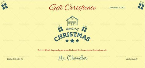 Download Family Christmas Gift Certificate Template (#311E) MS WORD in Microsoft Word (DOC). Family Christmas Gift Certificate Template (#311E) MS WORD is designed by expert designers and is completely customizable. Download, Edit  Print.