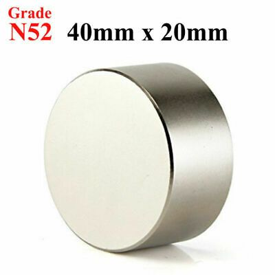Sponsored Ebay Huge Size N52 Large 40 X 20mm Neodymium Rare Earth Magnet Big Super Strong New Rare Earth Magnets Super Strong Magnets Magnets