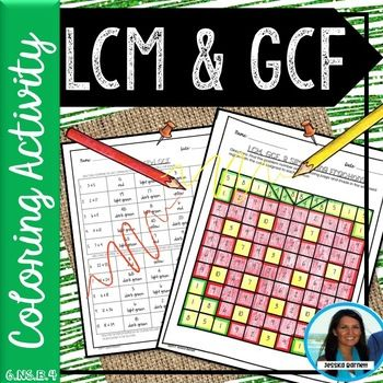 Lcm And Gcf Coloring Page 6 Ns B 4 Lcm And Gcf Maths Activities Middle School Fun Math Worksheets Gcf and lcm worksheet