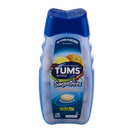 Tums Smoothies Extra Strength Heartburn Relief Chewable Tablets Fruit 140 Count Walmart Com Smoothies Heartburn Relief Fruit