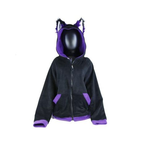 Pawstar FOX Ears Hoodie - Furry Cosplay costume Anime kitsune furry Wolf Kitty jacket coat costume a
