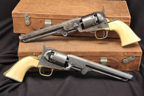 Pair-Colt-1851-Navy-US-Navy-Bureau-of-Ships-