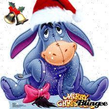 Disney Eeyore Christmas Shirt Ladies SZ XL Blue Snowflakes Long ...
