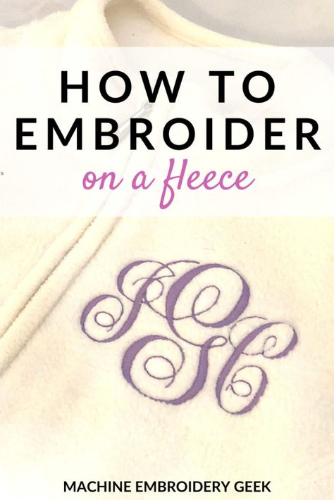 How to Embroider on a fleece (or fleece material) using your embroidery machine. Como bordar no velo. Used Embroidery Machines, Janome Embroidery Machine, Brother Embroidery Machine, Machine Embroidery Projects, Machine Applique, Embroidery Monogram, Embroidery Files, Ribbon Embroidery, Embroidered Gifts