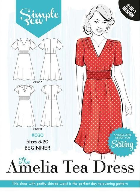 1940\'s Tea Dress Sewing Pattern :: Sew Over It Online Fabric Shop ...