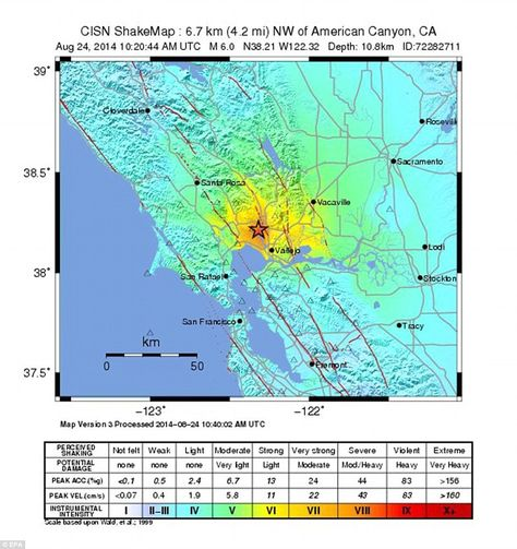 Northern California Could See Dozens Of Aftershocks And 1b