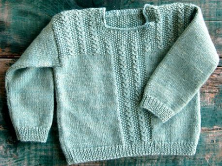 Free Knitting Pattern for Easy Pudding Pie Baby Sweater | Knitting ...
