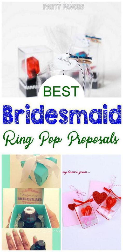 Ring Pop Bridesmaid Proposal! Find the best bridesmaid proposal ideas! From DIY ideas to box ideas to card ideas to kits to affordable to cheap to inexpensive you can find creative, unique, simple, easy and fun bridesmaid proposals. Great gifts for your feature bridal party - can be used as maid of honor proposals, junior bridesmaids and flower girl proposals too. Give at your engagement party or get together with your bride tribe. Get the best Ring Pop Bridesmaid Proposal ideas now!