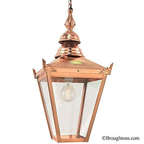 Elstead Chelsea Copper Chain Porch Hanging Lantern Light Outdoor Hanging Lanterns Lantern Lights