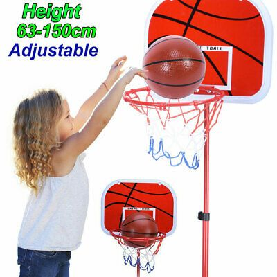 Advertisement Ebay New Adjustable Teenager Kids Basketball Stand Hoop Backboard Rim System 63 150cm In 2020 Kids Basketball Basketball Kids