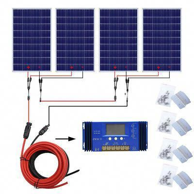 Eco 200w 300w 400w Off Grid Kit 100w Solar Panel Amp 1kw Pure Sine Inverter System Solarpanels Solarenergy Sola Solar Panels Solar Projects Solar Power Panels