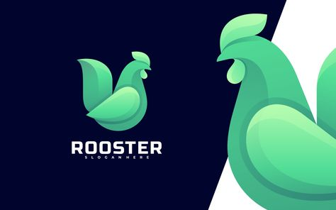 Rooster Colorful Logo Template