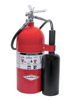 Amerex Ax330 Carbon Dioxide 10 Lb Co2 Fire Extinguisher W Wall Hanger Fire Extinguisher Extinguisher Chrome Plating