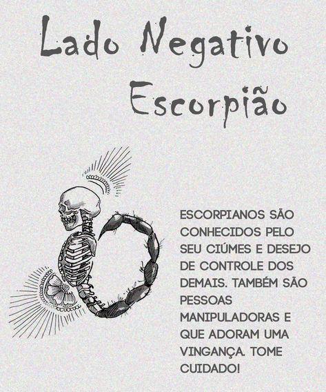 Lado Negativo de Escorpião #signodeescorpiao #escorpiao #escorpiano #escorpiana