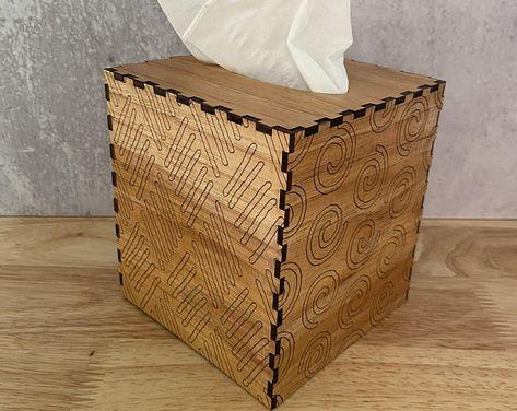 en blanco//19,5 x 23,5 x 12 cm Madeira garnschatulle superficie raíz madera-Optik