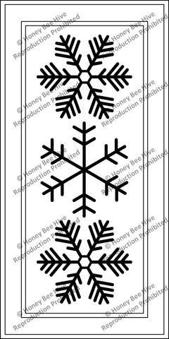 PR1839: Three Snow Flakes | Rug hooking | Snowflakes, Rug