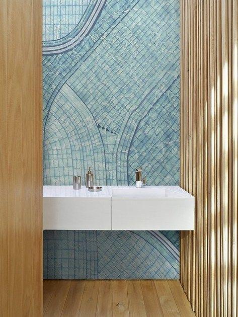 Bathroom Wallpaper Badaal By Wall Deco Suitable For Bathroom Water Areas Incl Kitchen Bathroom Wallpaper Wall Deco Bathroom Tile Designs