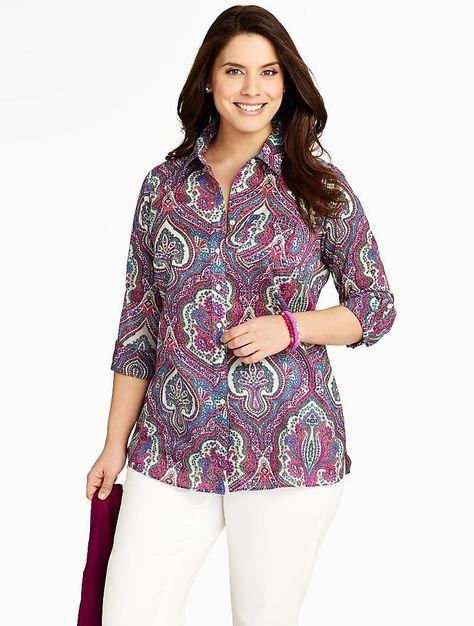 bc641dd5be7 Talbots - Modern Paisley Cotton Shirt