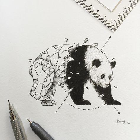 Geometric beasts panda                                                                                                                                                                                 More