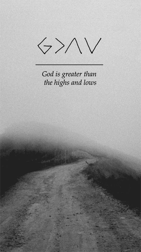 """Lockscreens — """"God is greater than the highs and lows"""" //..."""