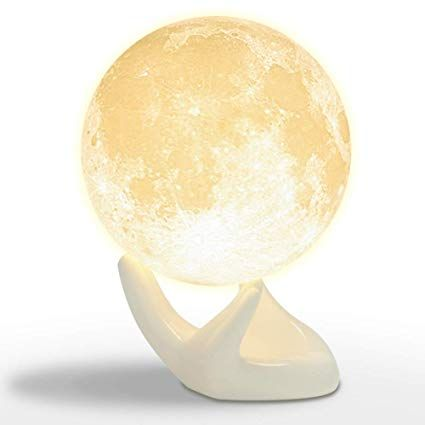 Mydethun Moon Lamp Moon Light Night Light For Kids Gift For Women Usb Charging And Touch Control Brightness 3d Printed Warm An Moon Light Lamp Lamp Night Light
