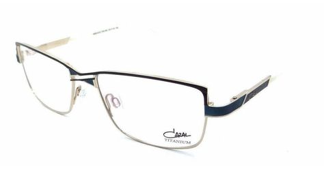 2c2811e13bf Cazal Rx Eyeglasses Frames 4215 001 53x16 Black Green Gold Titanium Germany