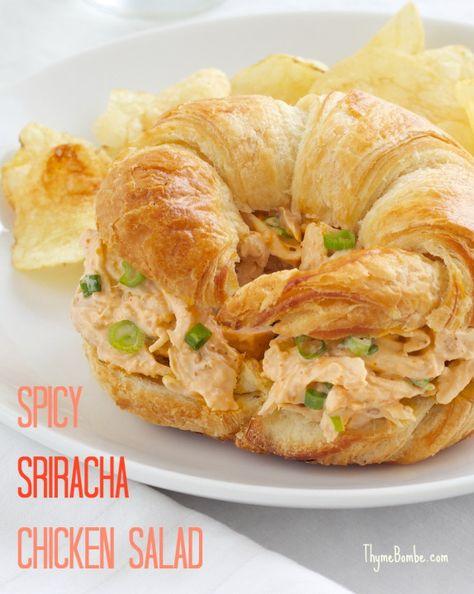 Spicy Sriracha Chicken Salad-easy with a rotisserie chicken!