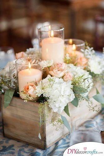 Rustic Ideas Great Diy Wedding Centerpieces Rustic Wedding Decor Romantic Rustic Wedding Wedding Table Centerpieces