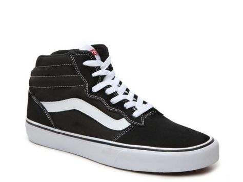 cdeb3cf01d68ea Men s Vans Ward Hi Suede High-Top Sneaker - - Black White