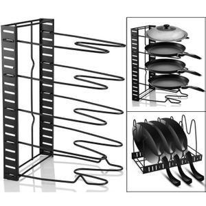 Cuisine Rangement Rack Pan Pot Couvercle Organisateur Etagere