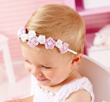 Häkelanleitung Baby-Haarband / E-Book PDF | kostenlose ...