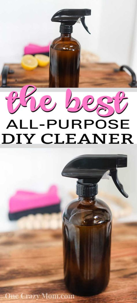 With just a few ingredients, make diy all purpose cleaner and start using natural products. Learn how to make all purpose cleaner recipe 2 different ways. Green Cleaning Recipes, Natural Cleaning Recipes, Natural Cleaning Products, Cleaning Hacks, Natural Products, Household Products, Cleaning Supplies, Homemade All Purpose Cleaner, All Purpose Cleaners