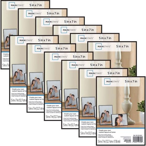 Set Of 12 Black Picture Frames 5 X 7 Photo Wall Home Gallery Decor Mainstays 663157245986 Eb Picture Frame Sets 5x7 Picture Frames Picture Frames