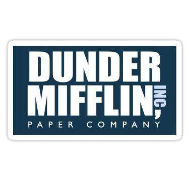 Dunder Mifflin Logo Sticker Paper Companies The Office Stickers Dunder Mifflin