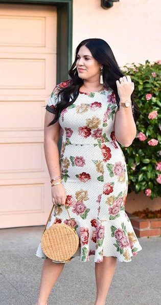 11 lovely plus size dress outfits for spring | Plus size ...