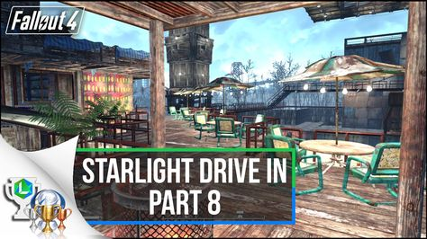 Fallout 4 Guide - Lets build Starlight Drive In | Settlement Build Tutor...