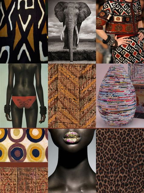 September 2012 AFRIQUE CHIC MOODBOARD Who doesn't appreciate a moodboard? Moodboards are great places to start when seeking.