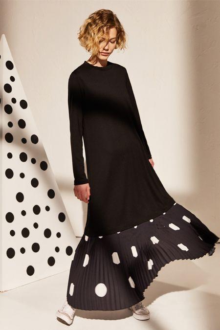 Lc Waikiki Siyah Fir Fir Detayli Viskon Elbise Online Satis Indirimli Satin Al 2020 The Dress Elbise Musluman Modasi