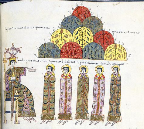 The wise men before the king Nebuchadnezzar
