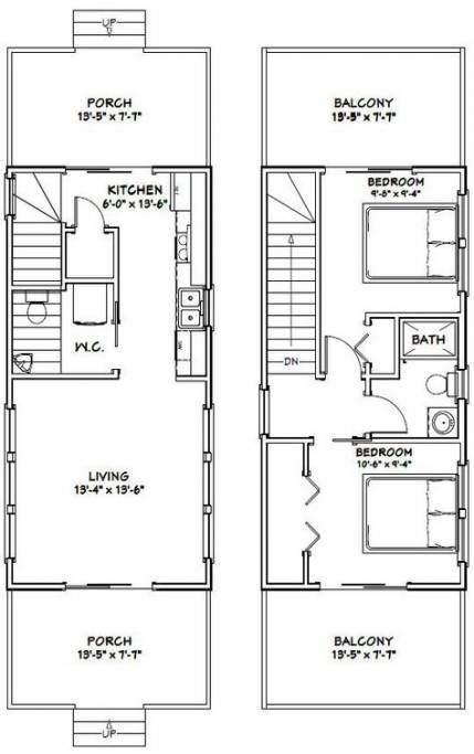 33 Ideas Backyard House Plans Garage Tiny House Plans Cabin Floor Plans Narrow Lot House Plans