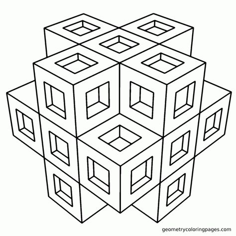 Geometric Coloring Pages - GetColoringPages.com | 474x474