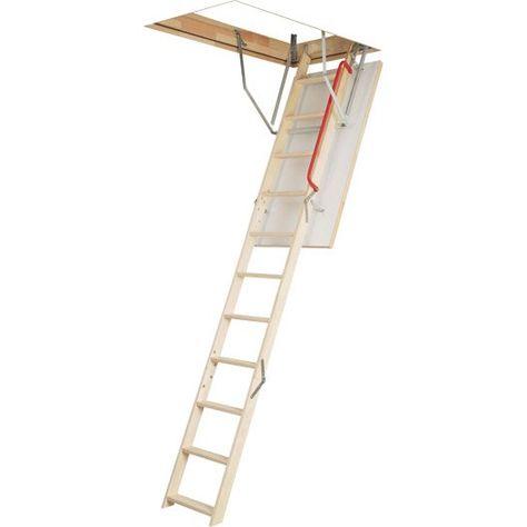 Escalier Escamotable Droit Structure Bois Marche Bois Escalier